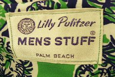 Vintage Lilly Pulitzer Mens Stuff Label