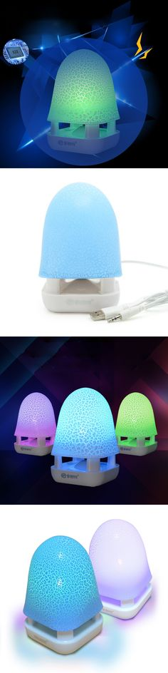 Portable Wired Led Speaker For Computer Notebook Laptop Tablet PC 3.5mm Subwoofer Portable Mini Audio Speaker Box Music Speakers