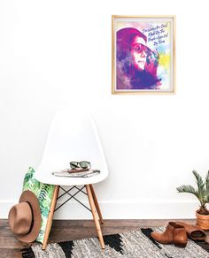 Gloria Steinem | Wall Art | Gift for Her Graduation All Gifts, Book Gifts, Feminism Poster, Angela Davis, Gloria Steinem, Etsy Shop Names, Feminist Art, Mom Birthday Gift, Your Best Friend