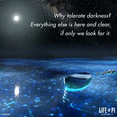 Why tolerate darkness? Everything else is here and clear, if only we look for it. Notes For Kids Lunches, Lunch Notes, Motivational Quotes For Life, Positive Quotes, Life Quotes, Life Of Pi, The Hobbit, Good To Know, Darkness