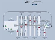 Atlanta Airport Map. SO in need of this!