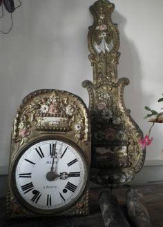 Antique French Original Morbier Comtoise Clock | eBay