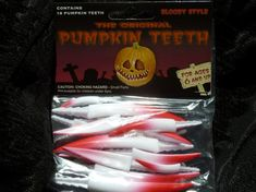 Special Edition Bloody  Fangs 18 pcs 4Lg 6Med by PUMPKINTEETH, $2.50