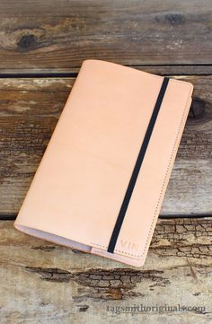 Personalized large refillable journal cover by Tagsmith