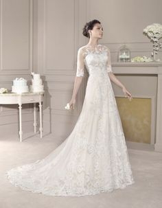 View the latest wedding dress collections from Fara Sposa as well as UK Stockist information Elegant Wedding Dress, Wedding Gowns, The Bride, Pronovias, Weeding Dress, Dressy Dresses, Bride Dresses, Bridal Beauty, Wedding Bridesmaids
