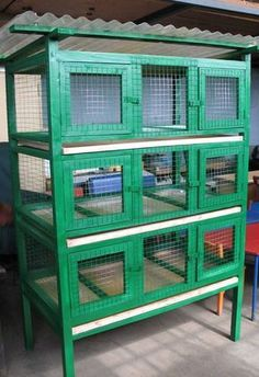 Quail cage. This could work for our rabbits too.