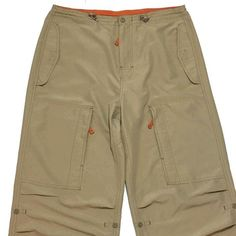 GAP Cargo Hiking Pants Medium Utility Security Pockets Roll-up Legs Bungee Hem  | eBay
