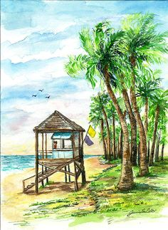 Title  The Watcher   Artist  Janis Lee Colon   Medium  Painting - Watercolor