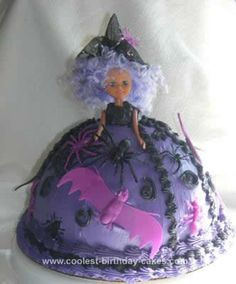 Homemade Halloween Witch Cake... This website is the Pinterest of halloween cakes