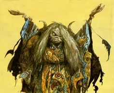 Aughra, Dark Crystal Concept Art - Brian Froud