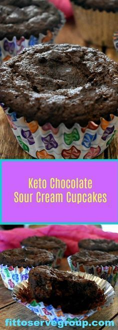 Keto Chocolate Sour Cream Cupcakes a rich low carb keto friendly chocolate cupcake recipe. Keto Chocolate Sour Cream Cupcakes a rich low carb keto friendly chocolate cupcake recipe. Cupcakes Keto, Keto Cake, Keto Cookies, Meringue Cookies, Healthy Cookies, Sugar Cookies, Desserts Keto, Keto Friendly Desserts, Dessert Recipes