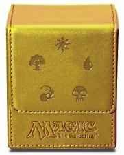 Porta Mazzo Ultra PRO Magic MANA FLIP BOX GOLD All Mana Deck Pelle Magnetico