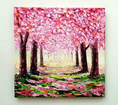 Hey, I found this really awesome Etsy listing at https://www.etsy.com/listing/241756014/cherry-blossom-tree-original-oil