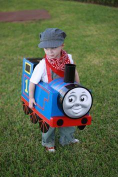 Diy thomas the train costume cardboard boxes halloween costumes thomas the train costumes solutioingenieria Choice Image
