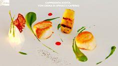 Cappesante scotta, con crema di spinaci e caprino.  White Gourmet Restaurant  c/o Borgobianco Resort & Spa - Polignano a MAre Contrada Casello Cavuzzi 70144 Info: +39 080 8870111 info@borgobianco.it