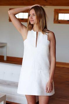 Cut Out Mod Dress - White