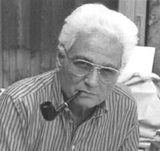 jacques derrida with a pipe