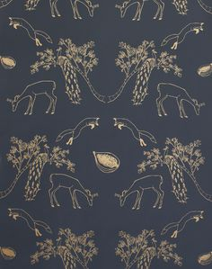 Franz, Dark Night – The Pattern Collective Creatures Of The Night, Small Log Cabin, Gray Background, Background Ideas, Deep Love, Traditional Wallpaper, World Of Color, Dark Night, Jewel Tones