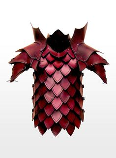 Red leather scale breastplate