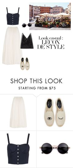 """""""If you insist on dark colours🙂"""" by dorey on Polyvore featuring Piazza, Needle & Thread, Soludos, TIBI and MM6 Maison Margiela"""