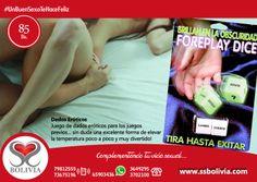 #UnBuenSexoTeHaceFeliz hoy te recomendamos este producto, son dados eroticos, ideal para los juegos previos. Encuentralo en nuestra tienda virtual http://www.ssbolivia.com/categoria.aspx?cat=5 Pedidos al 79812555 - 73675196 WhatsApp: 65903436 Tel.: 3649295 - 3702100