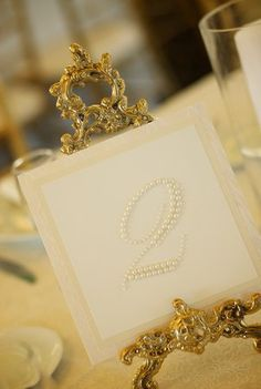 Pearl table numbers