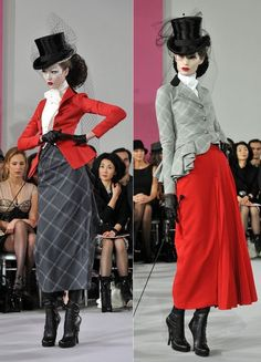 Red haute couture - Christian Dior Haute-Couture show as part of the Paris Fashion Week Spring/Summer 2010