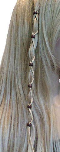 Ginga's Galleria Bead Leather Hair Ties Wraps Hair Jewelry #viking #braid #beads