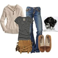 cute & comfy, shoes would be sperry's though