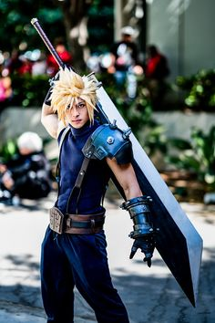 Anime Expo 2018 - The Sleepy Muse Final Fantasy Cosplay, Final Fantasy Vii Remake, Epic Cosplay, Fantasy Costumes, Amazing Cosplay, Anime Cosplay, Cosplay Ideas, Cloud Cosplay, Cloud Strife Cosplay