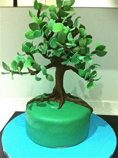 Tall Tree Tutorial - by Joyliciouscakes @ CakesDecor.com - cake decorating website
