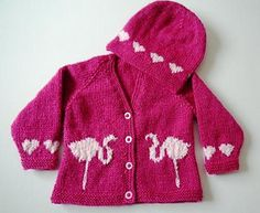 This is the pattern of the smaller sizes, for babies 0-3 months old