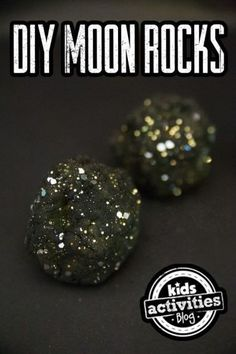 DIY Moon Rocks craft idea - A fun summer activity for kids!