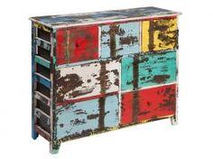 Mueble vintage con 7 cajones