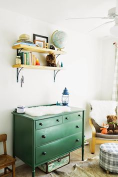 Harry's Vintage Eclectic Nursery By Christy Nicole Photography via Fawn Over Baby Blog