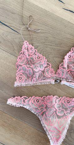 Blush — Sewn Designs Blush Lingerie, Lingerie Set, Crochet Bikini, Bikinis, Swimwear, Lace, Model, How To Wear, Lingerie