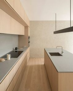 Minimal Kitchen Design, Kitchen Room Design, Minimalist Kitchen, Minimalist Interior, Home Decor Kitchen, Interior Design Kitchen, Home Kitchens, Kitchen Designs, Cuisines Design