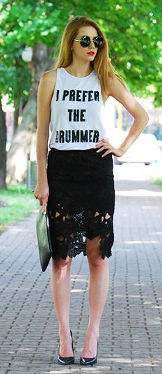 hi-lo crochet skirt…the drummer ;)