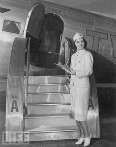1937 stewardess - Welcome aboard!