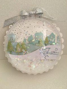 Pretty Inky Paper Crafts: Paper Pumpkin Christmas Ornament