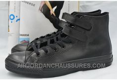 http://www.airjordanchaussures.com/all-star-full-black-leather-converse-double-velcro-chuck-taylor-high-shoes-super-deals-khebb.html ALL STAR FULL BLACK LEATHER CONVERSE DOUBLE VELCRO CHUCK TAYLOR HIGH SHOES SUPER DEALS SZEX2 Only 59,00€ , Free Shipping!