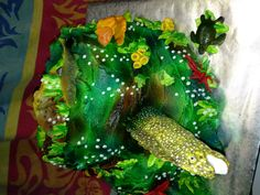 Reef cake with moray eel...