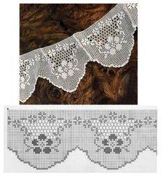 Esses dois modelos de barrados de crochê possuem formas ricas e diversificadas que atraem nossos olhares e a vontade de executá-los.