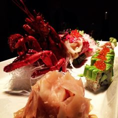 Lobster sushi at Alex's Sushi in #Oslo during our #RestorNor trip November 2012