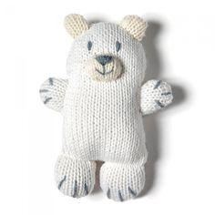 Tricot: un doudou ours polaire
