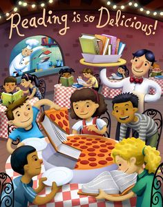 "Summer reading program is here! This year's theme - ""Reading is so delicious!"""