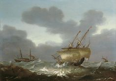 Hans Goderis, SEGELSCHIFFE AUF STÜRMISCHER SEE., Auktion 903 Alte Kunst (900 C), Lot 1061