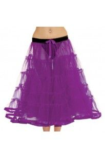 Crazy Chick Purple TuTu Skirt With Ribbon Approximately 30 Inches Long