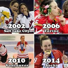 Proof Canada's women's hockey team gets results. Go Canada go! I Am Canadian, Canadian Girls, Women's Hockey, True North, Winter Olympics, Salt Lake City, Vancouver, Champion, Fitness Motivation