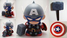 Captain America Thor Munny by xf4LL3n on DeviantArt